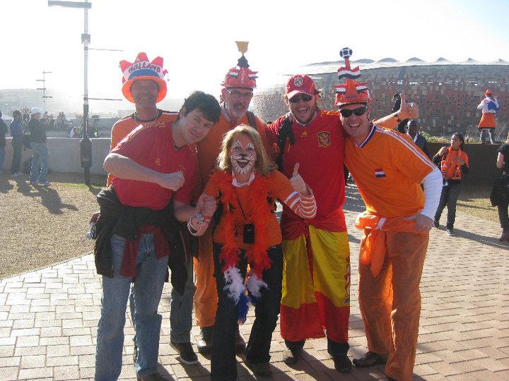 La afición holandesa fue mayoritaria en el Soccer City aquel 11 de julio de 2010.