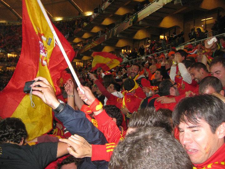 Con el gol de Iniesta todas las emociones se desataron en el estadio y en toda España.