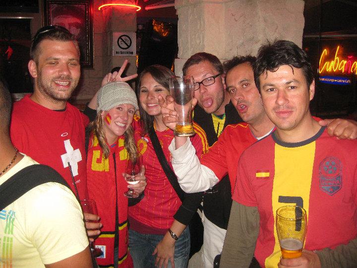 La derrota inicial frente a Suiza pudo amargar la fiesta española en Sudáfrica.